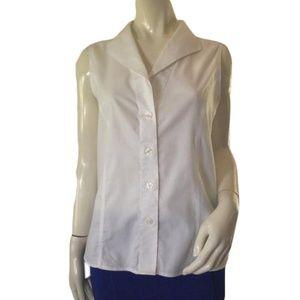 Calvin Klein white sleeveless blouse size 16